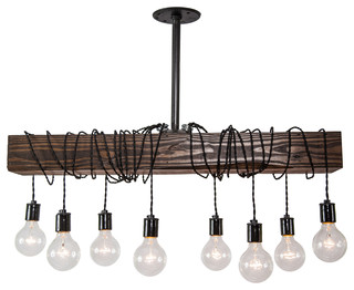 Wood beam chandelier industrial chandeliers by west ninth vintage mozeypictures Image collections