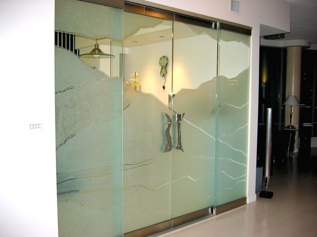 Glass Panels Glass Doors Sandblasted Glass contemporary & Glass Panels Glass Doors Sandblasted Glass - Contemporary ...
