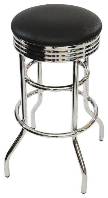 Marvelous 30 Chrome Swivel Barstool Black Beatyapartments Chair Design Images Beatyapartmentscom