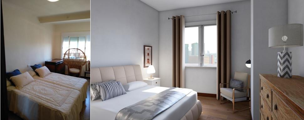 Dormitorio principal - Antes y propuesta