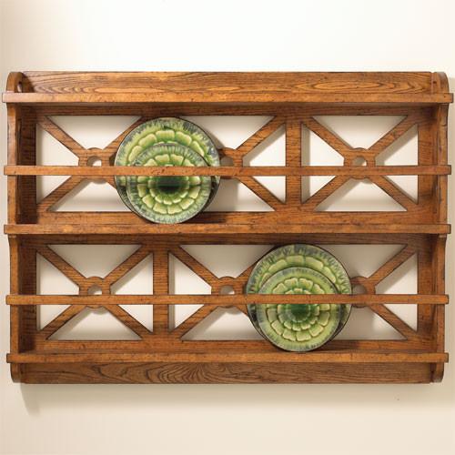 & Rustic plate rack