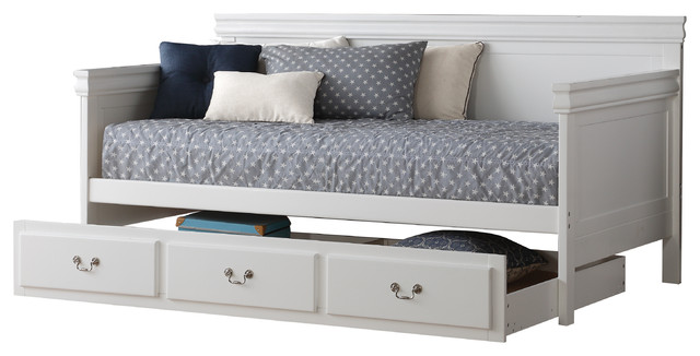 Acme Bailee Daybed With Trundle, White.