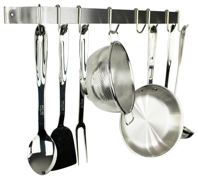 Enclume Handcrafted 30 Wall Rack, Stainless Steel.