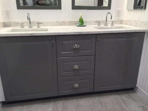 New bath w ikea sektion cabinets image heavy for Ikea sektion kitchen cabinets