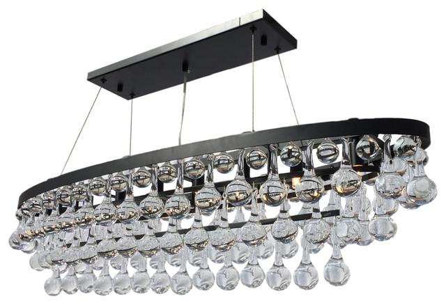 oval chandelier lighting. celeste 8-light oval glass drop chandelier, black contemporary-pendant- lighting chandelier s