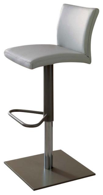 Enjoyable Sport Swivel Bar Stool Adjustable Height Genuine Leather Light Gray Theyellowbook Wood Chair Design Ideas Theyellowbookinfo