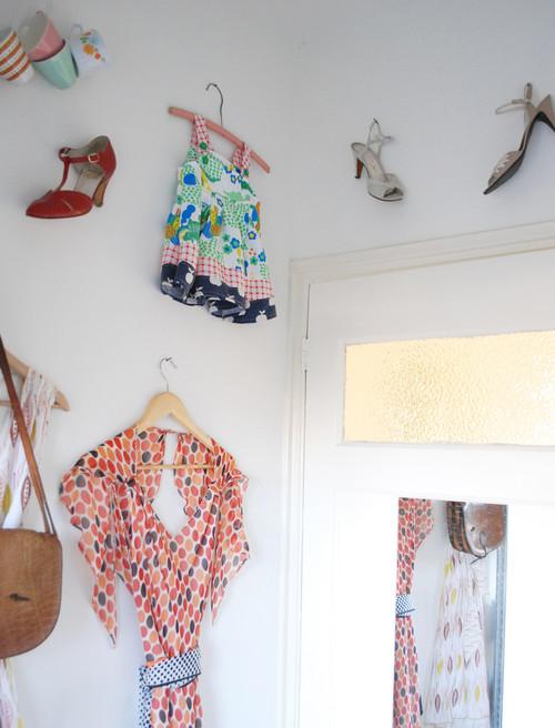 Nina van de Goors Home eclectic closet
