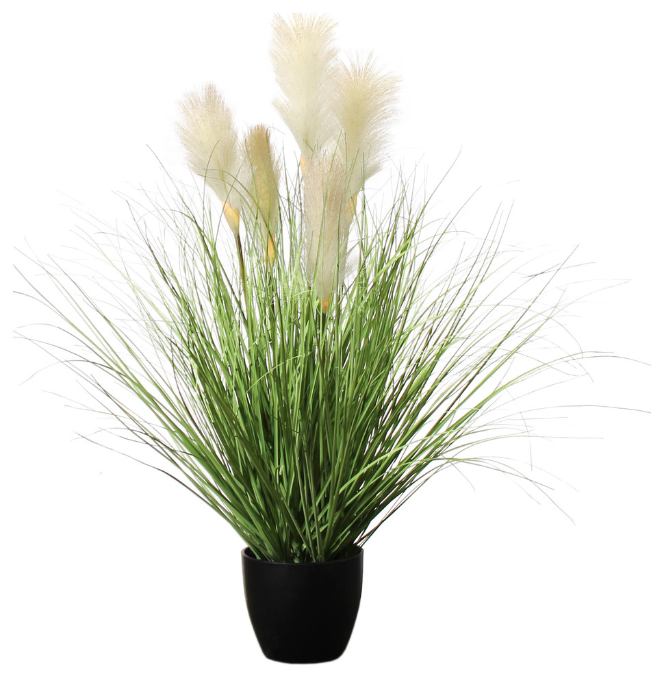 Potted Reed River Grass Set Of 2 2 5 Modern Artificial Plants And Trees By Amazing Green Inc