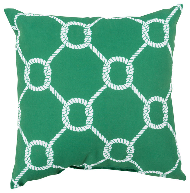 Beach Style Outdoor Cushions : Shop Houzz Surya Rain Pillow 18x18x4 - Outdoor Cushions And Pillows