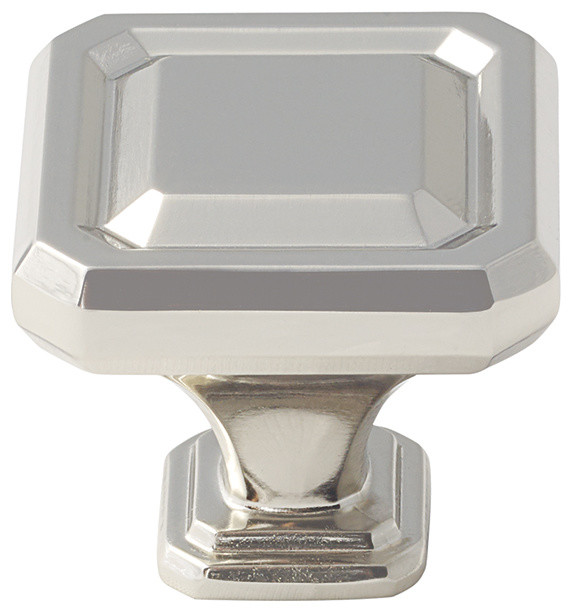 "Amerock Knob Wells 1-1/2"" Polished Nickel - Transitional - Cabinet And Drawer Knobs - by ..."