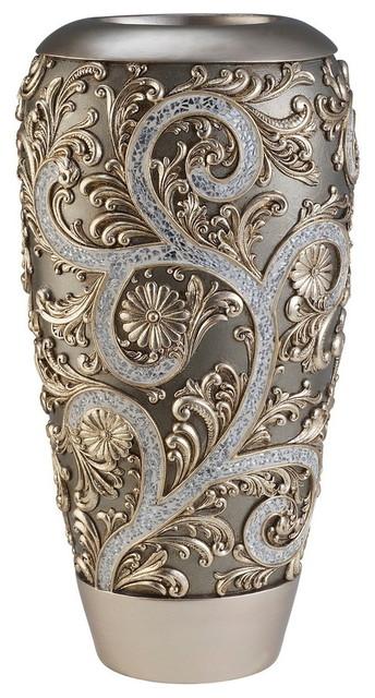 Silver Vine Vase