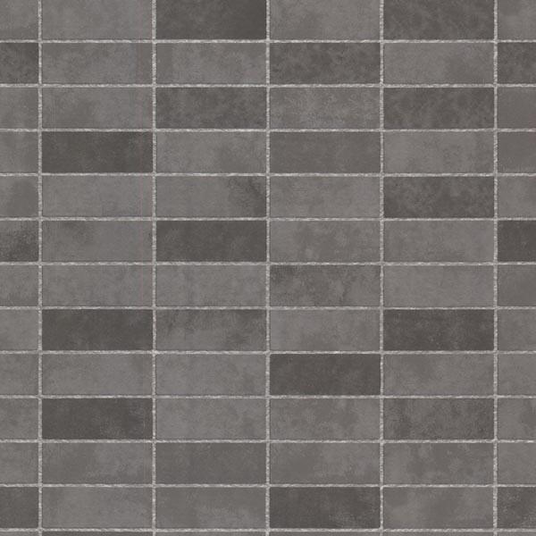 Hunter Slate Rectangle Tile Wallpaper Bolt Contemporary