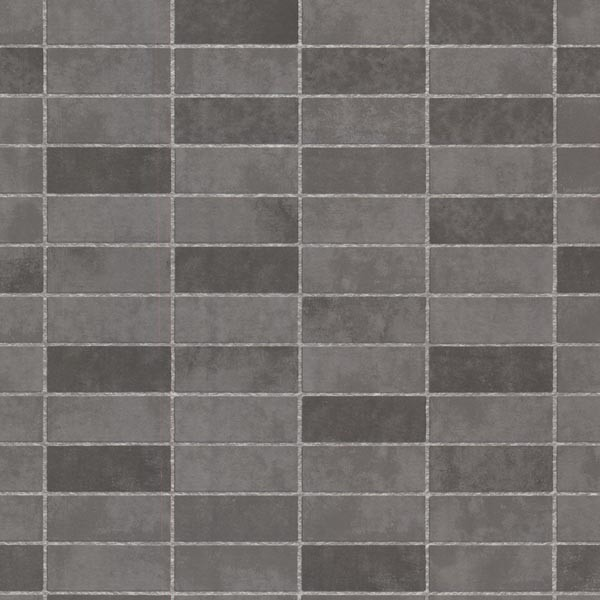 Hunter Slate Rectangle Tile Wallpaper Contemporary Wallpaper