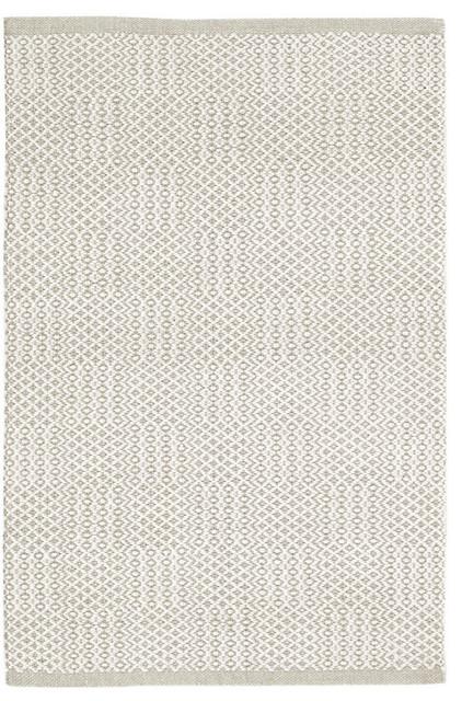 Dash And Albert Bonnie Gray Woven Cotton Rug, 3&x27;x5&x27;.