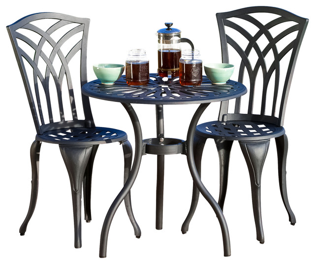 3 Piece Outdoor Table And Chair Set Part - 30: Astair 3-Piece Outdoor Bistro Set Contemporary-outdoor-pub-and-bistro