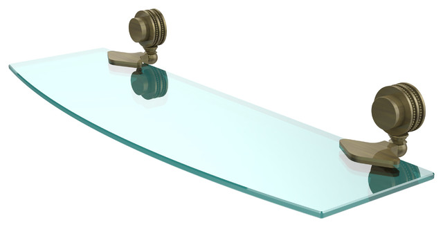 Allied Brass - Venus Collection Glass Shelf With Dotted Accents - View in Your Room! | Houzz