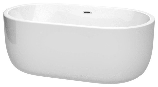 "Wyndham Collection Wcobt101360 Juliette 60"" Freestanding Acrylic Soaking Tub."