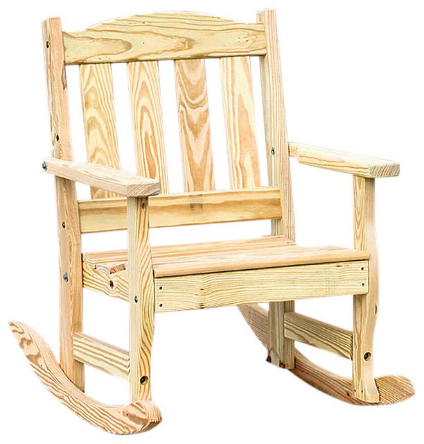 Phenomenal Pressure Treated Pine English Garden Rocking Chair Unfinished Squirreltailoven Fun Painted Chair Ideas Images Squirreltailovenorg