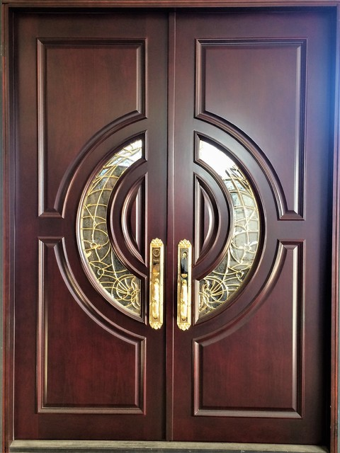 Mahogany Exterior Home Front Entry Door 5x68 With 2 38 Thick