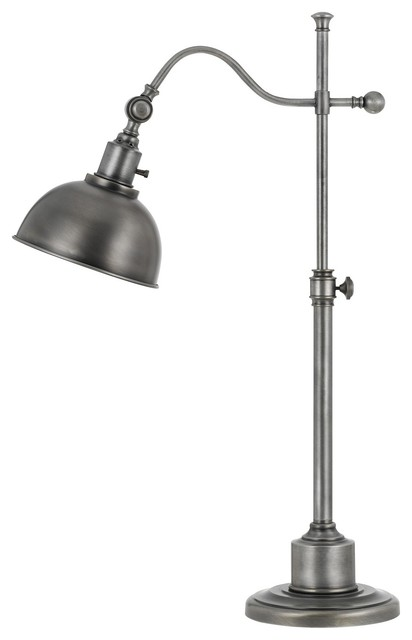 60W Portico Metal Adjustable Table Lamp With Metal Shade