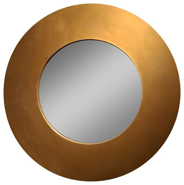 28 Round Copper Framed Mirror by HONG DESIGN