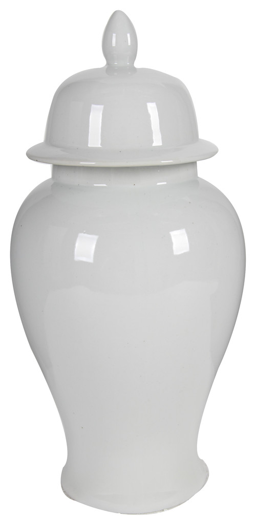 """Shop Porcelain Ginger Jar With Lid, White, 10""""x20"""" from Houzz on Openhaus"""