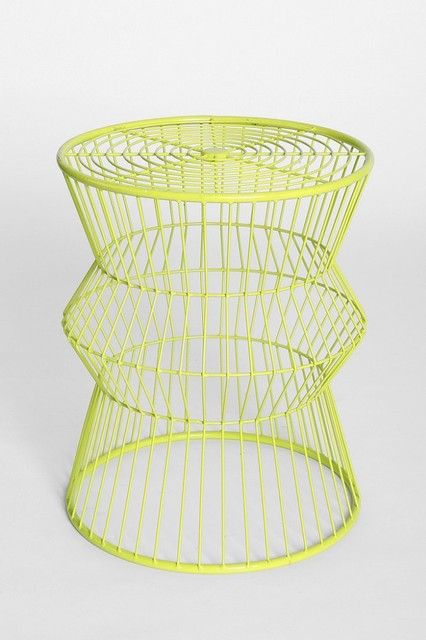Assembly Home Wire Table, Bright Green