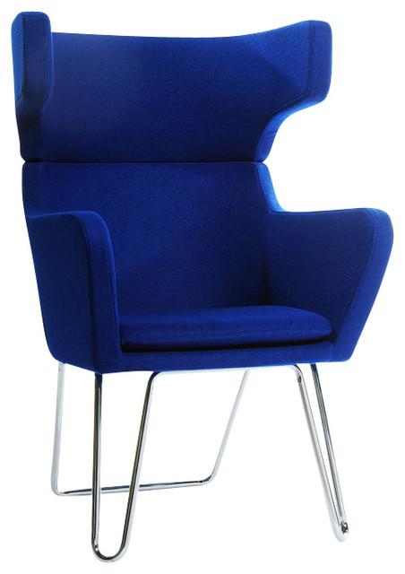 Cool Modrest Anser Modern Blue Fabric Lounge Chair Short Links Chair Design For Home Short Linksinfo