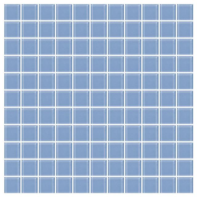 Light Periwinkle Blue Glass Tile Contemporary Mosaic Tile By Susan Jablon Mosaics Houzz