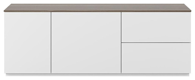 Join 2-Door 2-Drawer Sideboard, Walnut, With Base