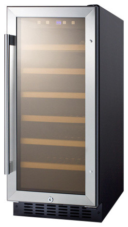 Summit 33 Bottles Capacity Wine Cellar With Digital Display And Led Lighting
