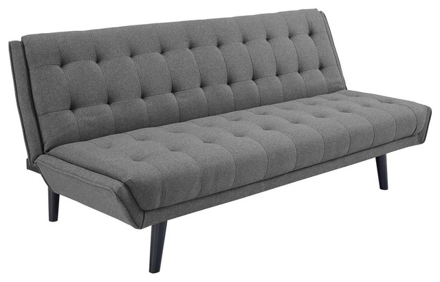 Glance Tufted Convertible Fabric Sofa Bed Midcentury Sleeper Sofas By Furniture East Inc