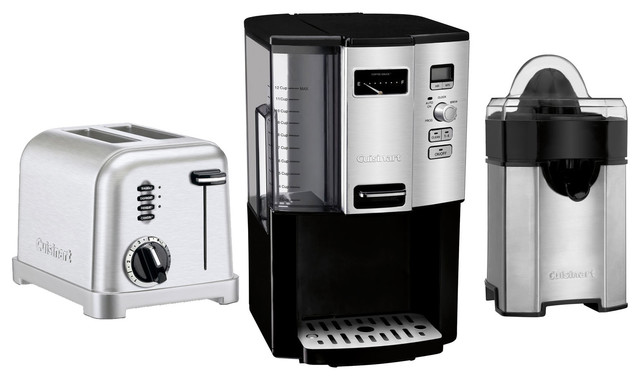Cuisinart Coffeemaker, Juicer And 2-Slice Toaster, 3-Piece Set.