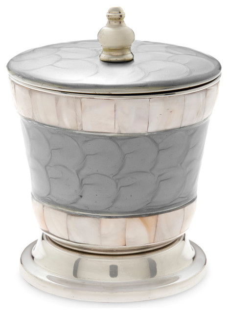 Bathroom Canister Enchanting Julia Knight Classic 6060 Covered Canister Platinum Beach Style