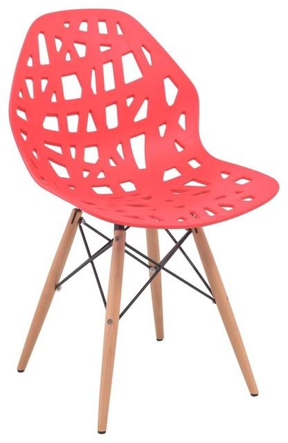Leisuremod akron cutout design side chair wood