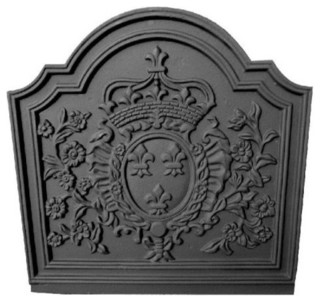 black cast iron crown medallion fireback x victorian fireplace accessories. Black Bedroom Furniture Sets. Home Design Ideas