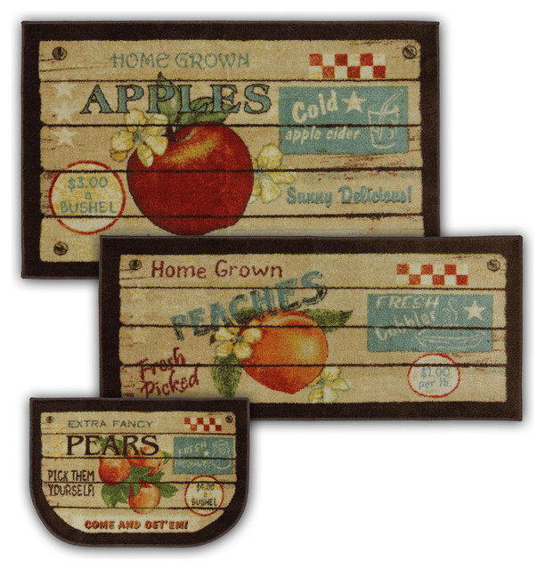 Fruit Crate Multi Rug Set, Contains 20x45, 30x50 And 20x30 Slice.