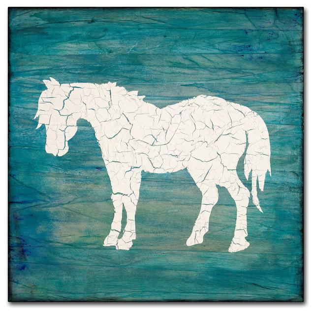 LightBoxJournal 'Farm Horse' Canvas Art