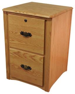 Oak Furniture Shop Queen Anne Style Solid Oak 2-Drawer Filing Cabinet ...