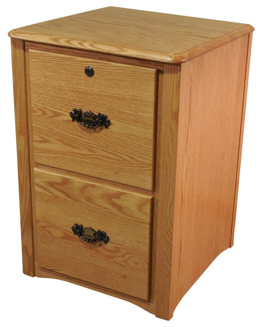 The Oak Furniture Shop - Queen Anne Style Solid Oak 2 ...