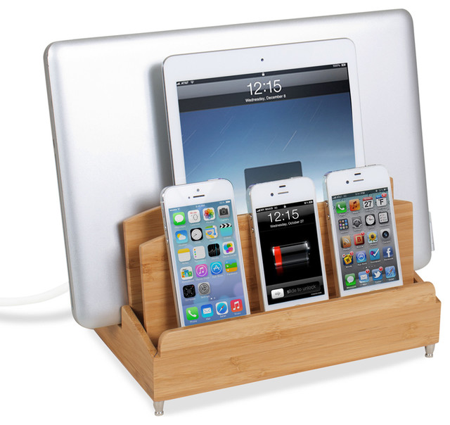 Ultra Charging Station And Dock With 6 Outlet Power Strip