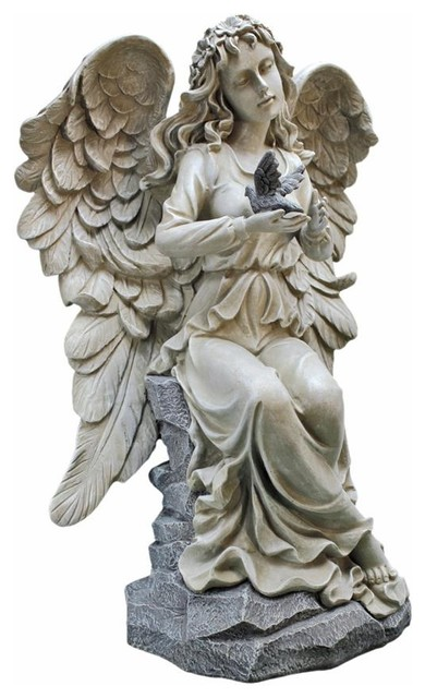 Natureu0027s Blessing Angel Garden Statue   Traditional   Garden Statues And  Yard Art   By Design Toscano