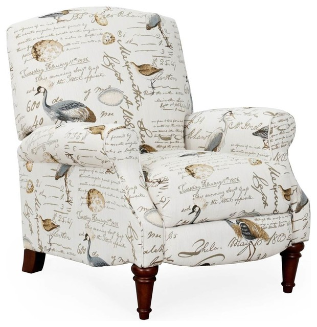 Bird Script Recliner Traditional Recliner Chairs By