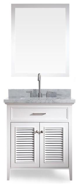 "Kensington 31"" Single Sink Vanity Set, White."