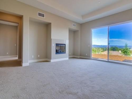 Window coverings for sliding glass door in master bedroom?