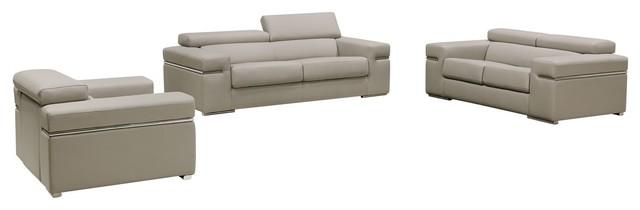 Remarkable Vig Furniture Divani Casa Atlantis Modern Light Gray Bonded Leather Sofa Set Bralicious Painted Fabric Chair Ideas Braliciousco