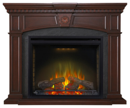 """Napoleon The Harlow 33"""" Electric Fireplace Mantel Package."""