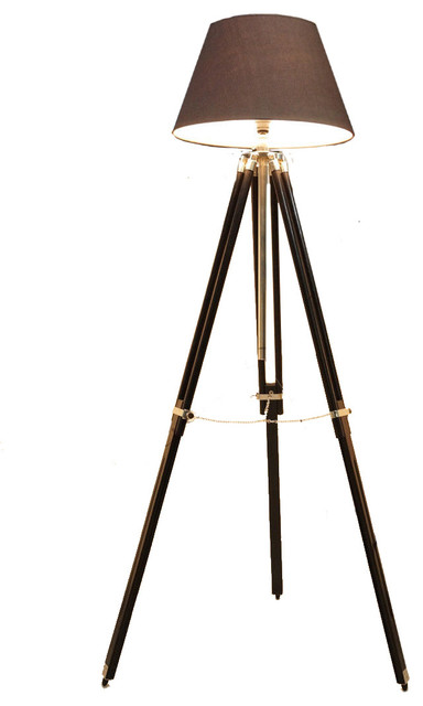 old hollywood style tripod floor lamp traditional. Black Bedroom Furniture Sets. Home Design Ideas