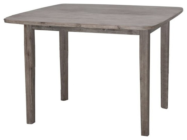 ... Boraam Boulder Dining Table In Driftwood Gray Wire Brush Farmhouse  Dining Tables ...