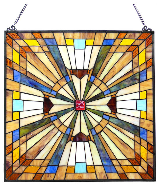 stained glass panel hanging hardware window panels uk flare mission square cheap